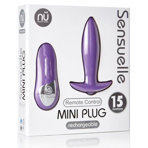 Sensuelle Remote Control Rechargeable Mini Plug - Purple