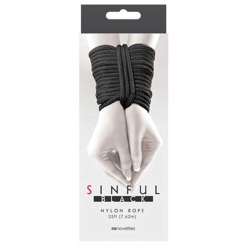 Sinful 25' Nylon Rope - Black