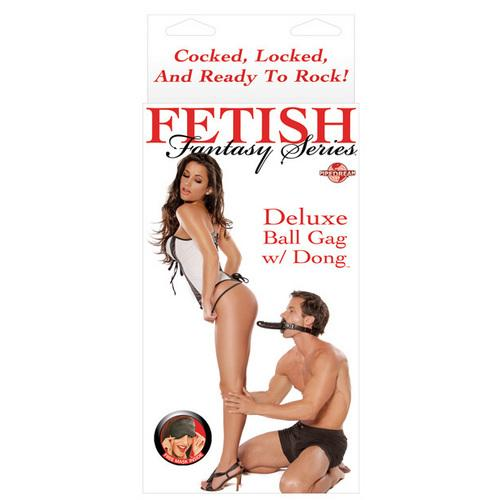 Fetish Fantasy Series Deluxe Ball Gag w/Dong - Black