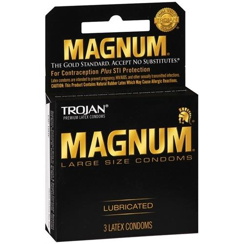 Trojan Magnum Large Size Lubricated - 3 Pack