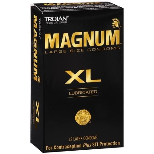 Trojan Magnum XL Lubricated - 12 Pack Tj64712