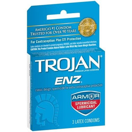 Trojan Enz Armor Spermicidal Lubricated  Condoms - 3 Pack