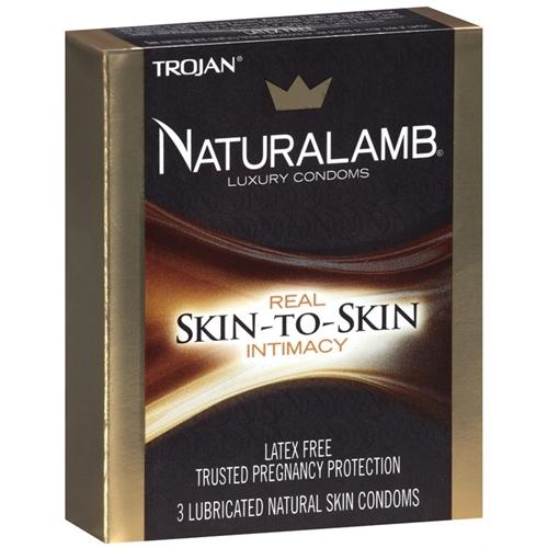 Trojan Naturalamb Lubricated Condoms - 3 Pack