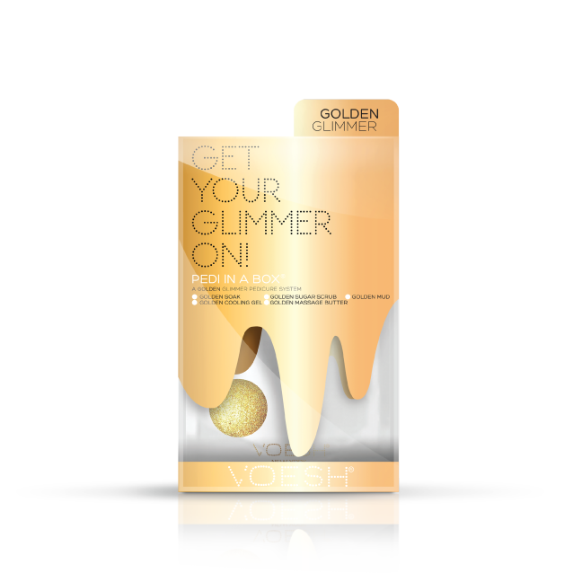 VOESH Pedi in a Box Glimmer Spa - GOLD