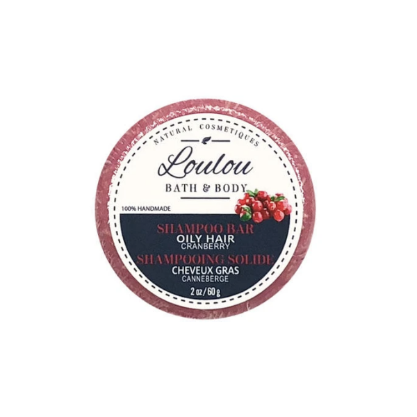 Loulou Shampoo Bar - Oily Hair (Cranberry)