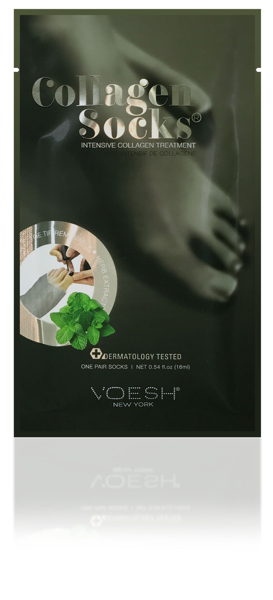 VOESH Collagen Socks with Peppermint, 6 pack