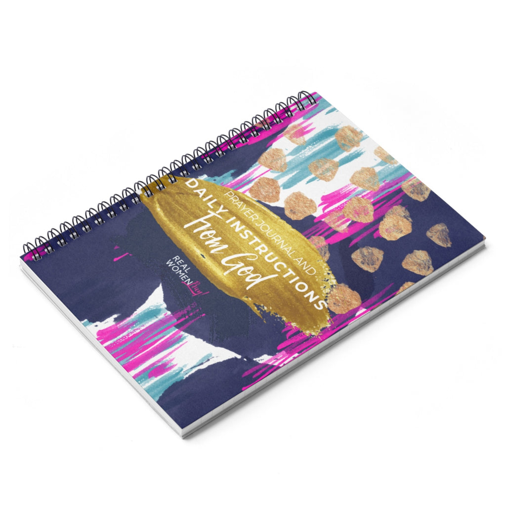 Daily Instructions From God Prayer Journal Spiral Notebook (Soft Cover) - Ruled Line