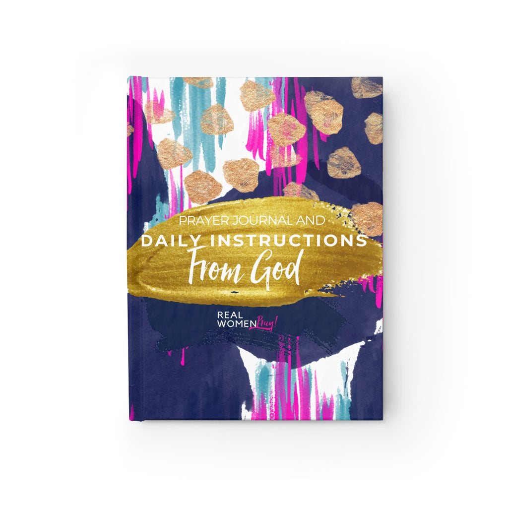 Daily Instructions From God Prayer Journal Hard Cover - Ruled Line