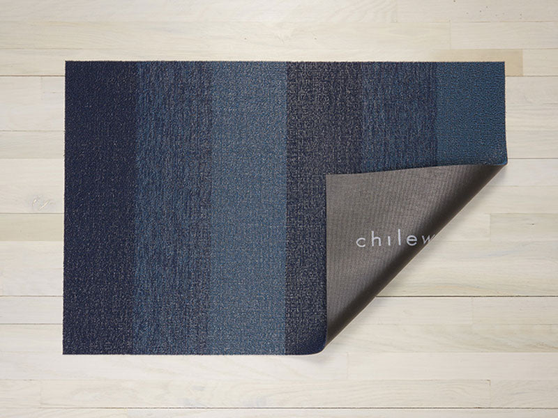 Shag In Out Mat Marbled Stripe / Bay Blue