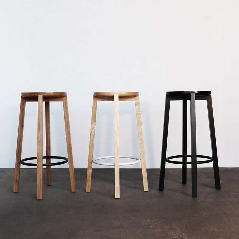 Cliff Stool Wood - Black Oak 660h