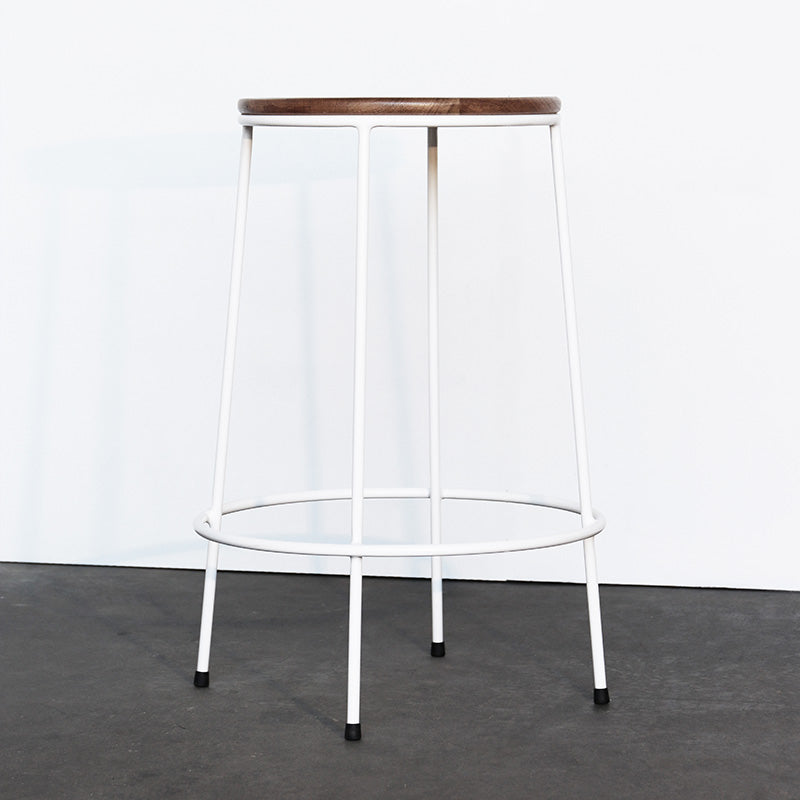 Cliff Stool Steel - White Frame 660h