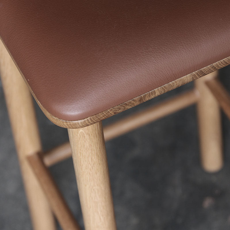 Maggie Stool Wood Upholstered - 660h