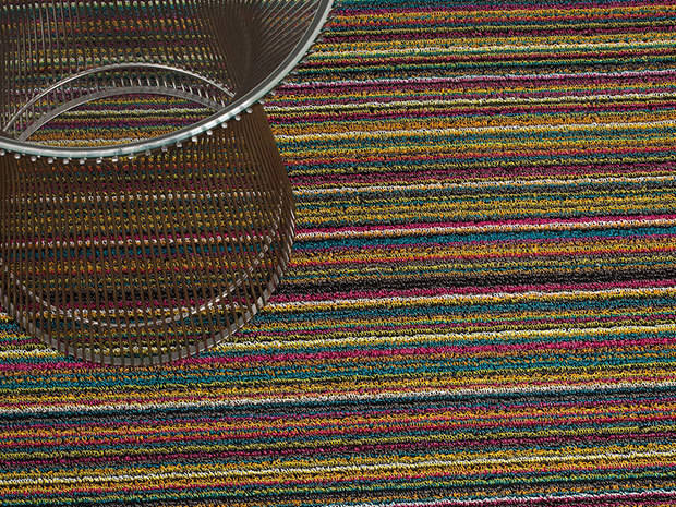 Shag In Out Mat Skinny Stripe / Bright Multi