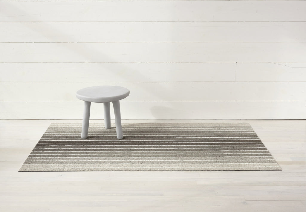 Shag In Out Mat Block Stripe / Taupe