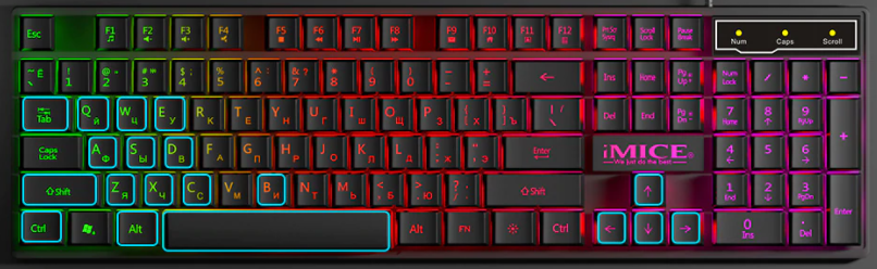 Gamers Boards Mechanical Backlit 104 Keycaps - Terendz