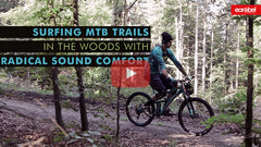 Surfing MTB trails in the woods - Thumbnail
