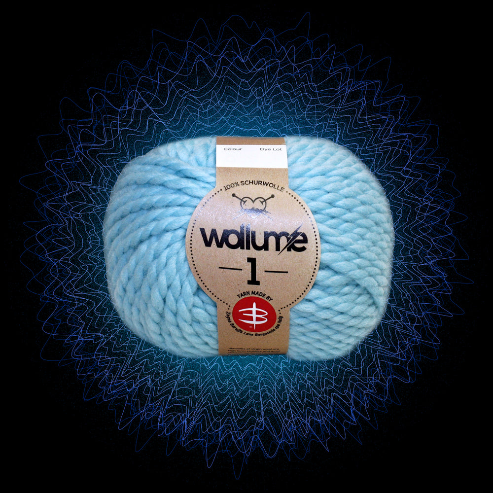 Wollume1 Pure Virgin Wool – Ice-Blue