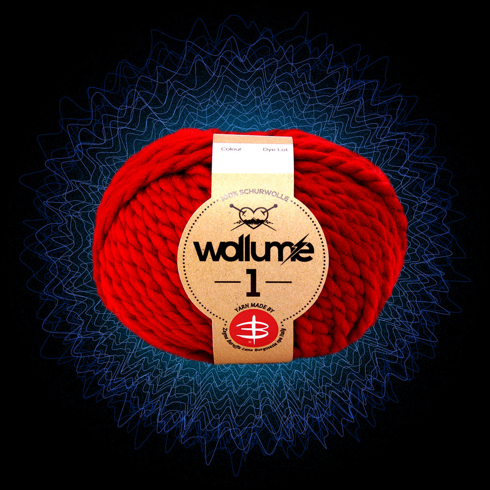 Wollume1 Pure Virgin Wool – Red