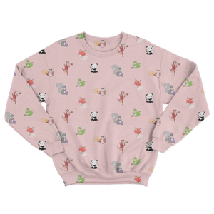 Cute Critters with Cannabis Unisex Sweatshirt