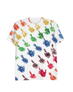 Middle Finger Paint Tee