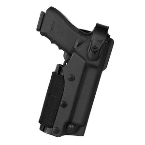 Thermo molding polymer holster  for pistol with flashlight or/and laser.