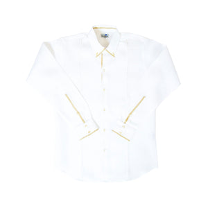 Camisa Doble Cuello Natural