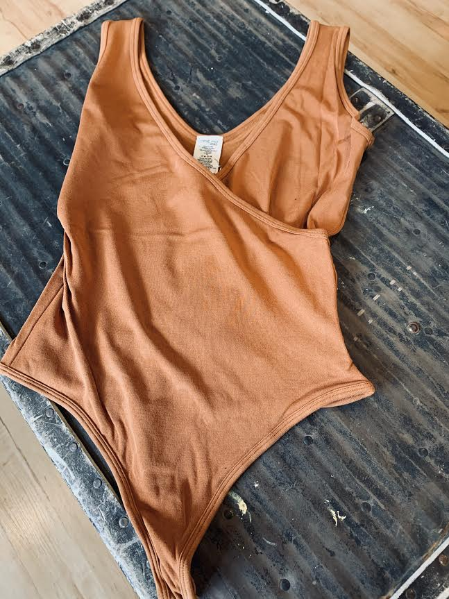 C'est Moi Bamboo Wrap Tank Body Suit - ONE SIZE