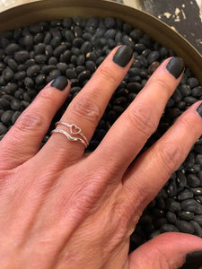 Kala Tiny Heart Stacker Rings