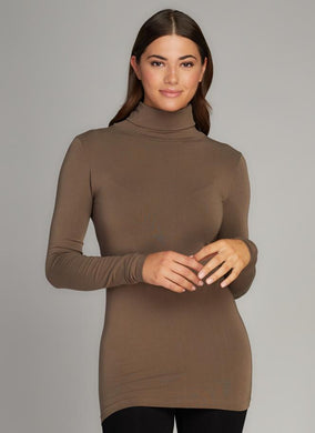 Bamboo ONE SIZE long sleeve turtle neck top
