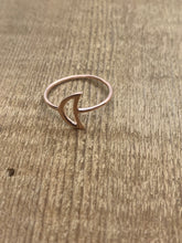 Kala Moon Ring - Open Crescent - Silver, Gold or Rose Gold