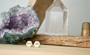 Grey Theory Mill Studs - Good Vibes Hexagon