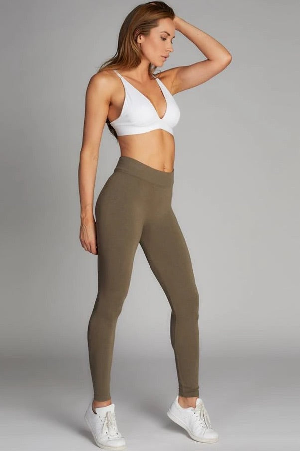 Bamboo One Size Heathered Leggings