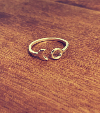 Kala Ring Wrap Full/Crescent Moon - Silver