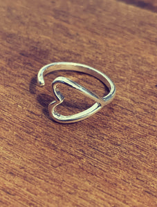Kala Ring Wrap Heart - Silver - Rose Gold