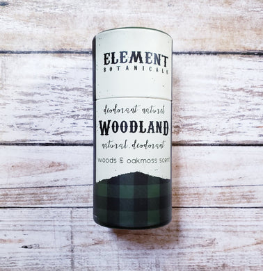 Element Botanicals Natural Deodorant - Woodland Scent