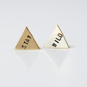 Grey Theory Mill Studs - Stay Wild Triangles