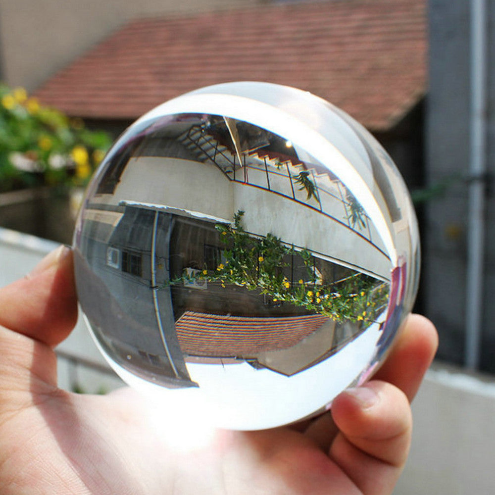 Clear Crystal Glass Sphere - AM Craftworks Studio
