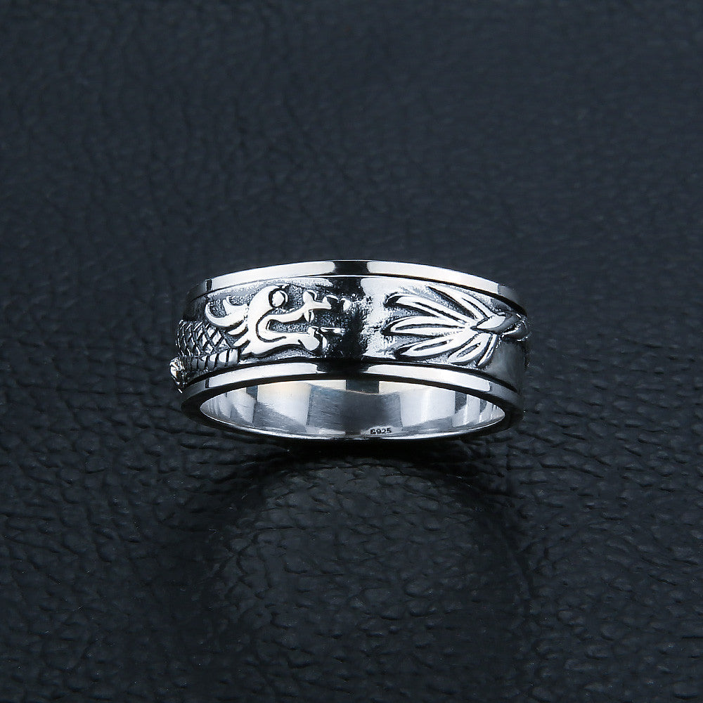 925 Sterling Silver Dragon Spinning Ring - AM Craftworks Studio