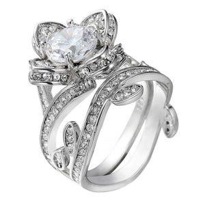 Engagement Ring Lotus Flower - AM Craftworks Studio
