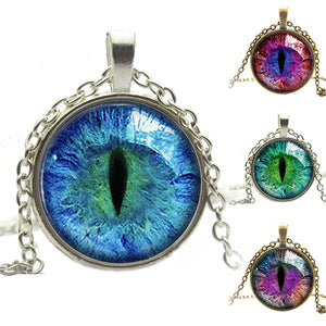 Dragon Cats Eye Glass Cabochon Pendant - AM Craftworks Studio