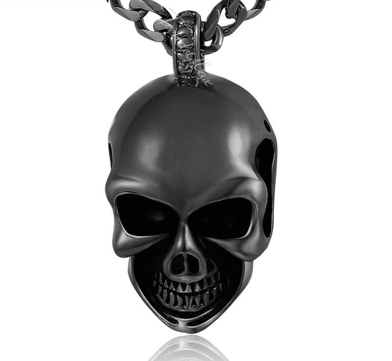 Gothic Skull Pendant Stainless Steel - AM Craftworks Studio