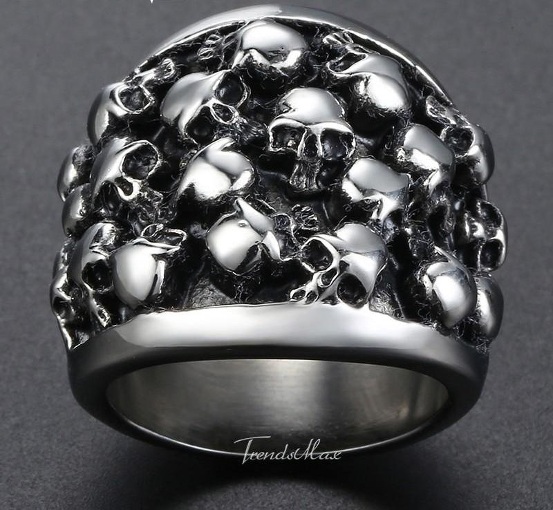 Skull Band Ring - AM Craftworks Studio