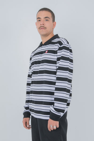 POLERA MANGA LARGA CAMBRIDGE BLACK/WHITE
