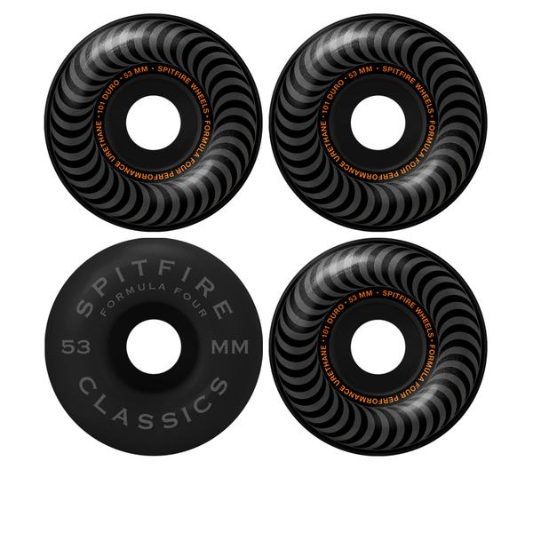 SPITFIRE WHEELS - F4 101 CLASSIC BLACKOUT 53 MM