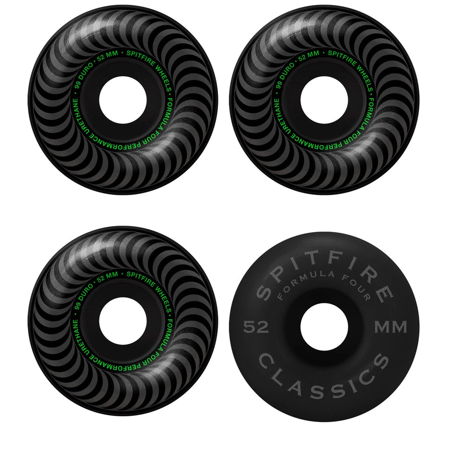 SPITFIRE WHEELS - F4 101 CLASSIC BLACKOUT 52 MM