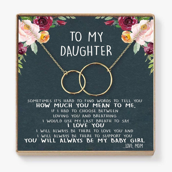 To My Daughter Interlocking Necklaces Bets Gift For Your Daughter
