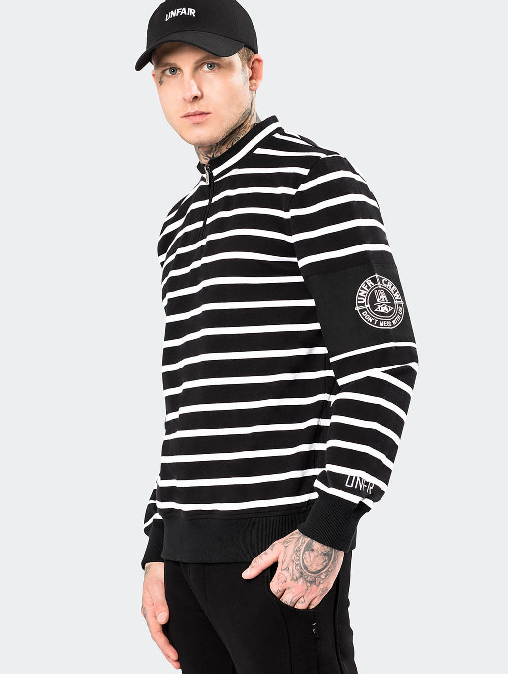 YARN DYE STRIPED CREWNECK - EVERY*