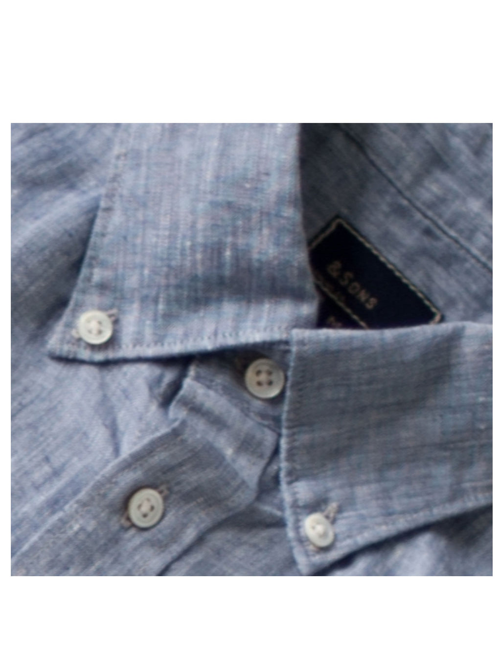 LINEN CHAMBRAY – MIDNIGHT BUTTON-DOWN COLLAR