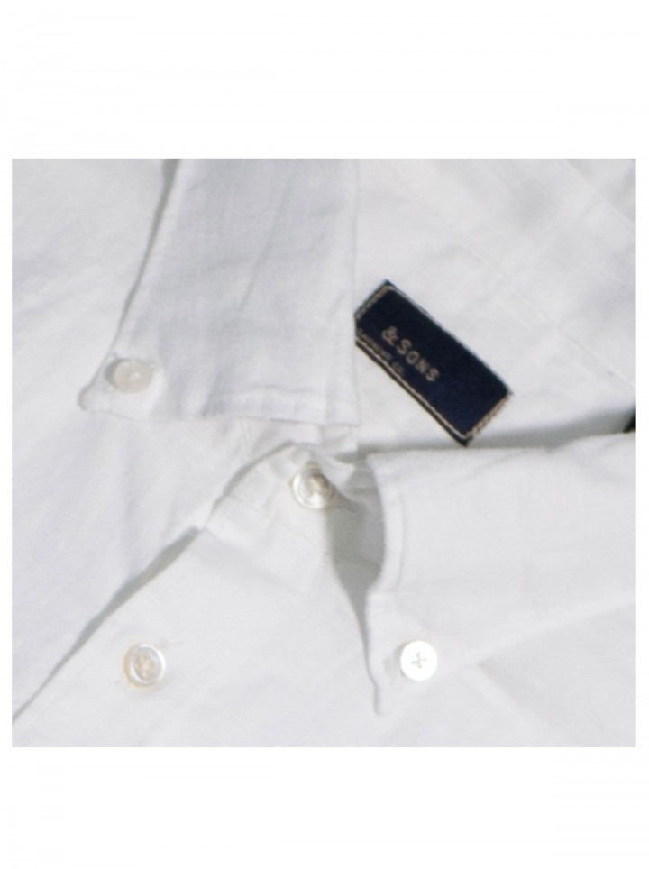 LINEN CHAMBRAY – WHITE BUTTON-DOWN COLLAR - EVERY*