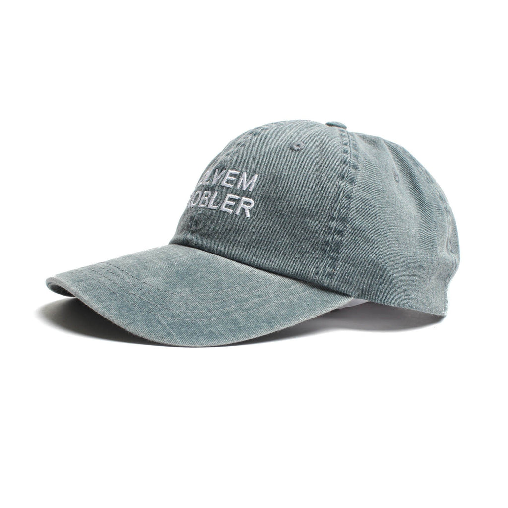 SOLVEM PROBLER 6 PANEL LOW PROFILE EMBROIDERED CAP WITH DISTRESSED BILL